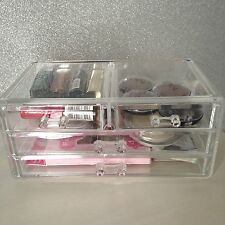 Acrylic Clear Cosmetic Organizer Make Up Storage Case Drawers