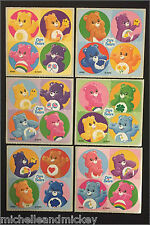 Care Bears Stickers x 24 Dots - Favours - Birthday Party - Wonder Heart Bears