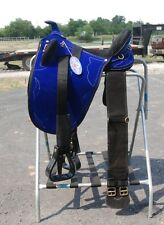 "Super lightweight synthetic 17"" Australian saddle & fittings 17 pounds BLUE"