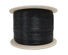 100m Black Satellite TV Aerial Coax HD Cable RG6 Saorview Freesat Coaxial