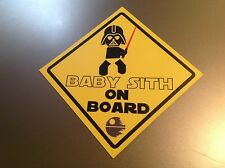 Star Wars 'Baby Sith on Board'   Waterproof vinyl car Sticker decal