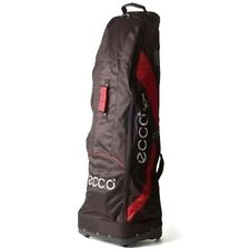 NEW ECCO TRAVEL COVER WHEELED GOLF BAG (BLACK/RED)