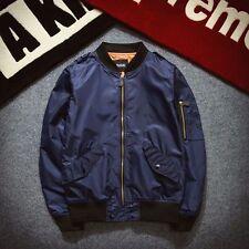 Men's Fashion MA1 Flight Bomber Jacket Baseball Retro Jacket Thin Coat Tops XS-L