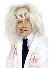 Mens White Albert Einstein Mad Man Wig Halloween Fancy Dress Accessory