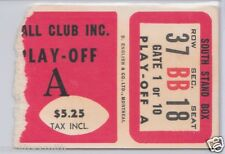 Vintage 1962 Ottawa Rough Riders CFL Playoffs Ticket vs Montreal Alouettes