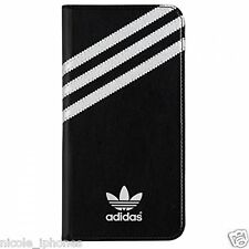 Adidas Original Booklet Case Cover for iPhone 6 (s) Plus Black - Silver stripes