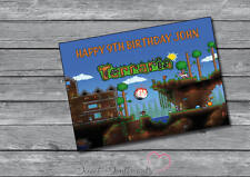 Personalizado Terrarios Cumpleaños O Tarjeta De Navidad-A5 su nombre y edad
