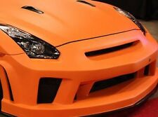 MATT ORANGE CARBON FIBRE VINYL 30x152cm ALL PURPOSE  WRAP STICKER SHEET
