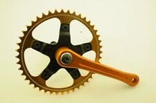 OLD SCHOOL BMX 80's GOLD TRACER COTTERLESS 44T ALLOY CHAINWHEEL & SR AXLE NOS