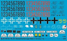 Peddinghaus 1/16 German Sd.Kfz.250-251 Half-track Markings WWII [Decal] 2794