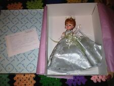 """Estate 10"""" Madame Alexander LILY OF THE VALLEY FLOWER GOWN DOLL 1998 #22520"""