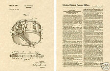 ROGERS DYNASONIC Snare Drum Joe Thompson Patent Art Print READY TO FRAME!!!!