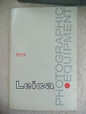 ORIGINAL 1959 E. LEITZ LEICA PHOTOGRAPHIC EQUIPMENT CATALOG