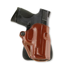 "GALCO SPD266 SPEED LEATHER PADDLE HOLSTER 4 1/4"" 1911 KIMBER COLT SPRNGFIELD TAN"