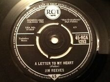 JIM REEVES   . A LETTER TO MY HEART / ADIOS AMIGO .  1962
