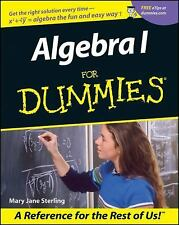 Algebra I for Dummies by Mary Jane Sterling (2001, Paperback)