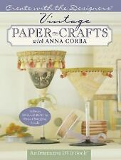 Vintage Paper Crafts Book & Interactive DVD Anna Corba