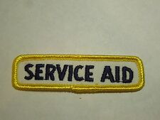 Vintage Service Aid Employee Advertising Embroidered Iron On Patch