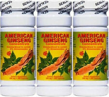 3 bottles Nu-Health American Ginseng Concentrate Extract (200 Capsules/bottle)