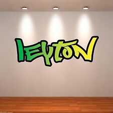 Small Personalised Graffiti Name Full Colour Wall Art Sticker Transfer Bedroom