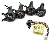 Side pin CC3D EVO Flight Controller + LHI 4x 2204 2300KV Brushless Motor QAV250