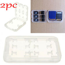 2pcs 8in1 Plastic Case For Micro SD TF Memory Card Storage Holder Box Protector