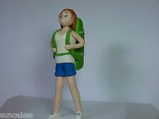 Hiking Backpacker Woman Girl Edible sugar paste decoration cake topper birthday