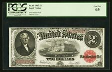U.S.  1917  $2 LEGAL TENDER BANKNOTE, GEM UNCIRCULATED, FR-60, CERTIFIED PCGS 65