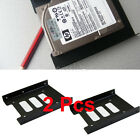 "2X 2.5"" to 3.5"" SSD HDD Metal Adapter Mounting Bracket Hard Drive Holder for PC"