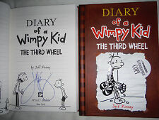 ***SIGNED 1st Printing/Ed*** Jeff Kinney Diary of a Wimpy Kid 7 The Third Wheel