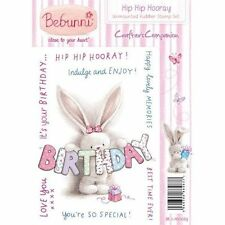 New Crafters Companion Unmounted Rubber Stamp Bebunni Hip Hip Hooray