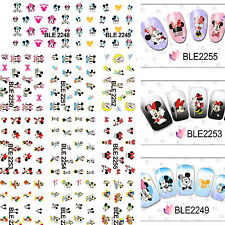 240 Assorted Disney Cute Mickey Minnie Mouse Decals Water Nail Art Stickers