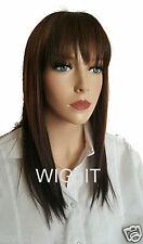 SINEAD | DYTT4-30 | SLEEK FASHION IDOL 101 STRAIGHT TONGABLE SYNTHETIC WIG BANGS
