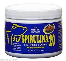 Zoo Med's Spirulina 20 Fish Food Flakes .05 oz