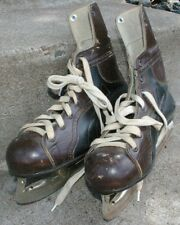 Vintage Solid Leather Youth CCM Ice Hockey skates  Really Nice Condition