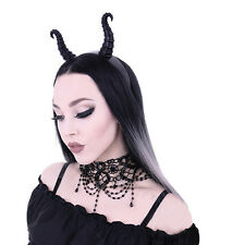 MALEFICENT HORN Headband, Black Horns, Gothic headpiece