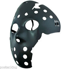 Black Plastic Hockey 3D Party Halloween Fancy Dress Scary Costume Full Face Mask