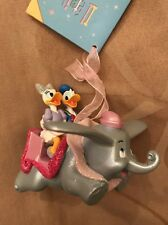 Disney Donald Daisy Duck On Dumbo Ride Christmas Decoration Ornament
