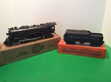 LIONEL POSTWAR COLLECTORS GRADE 736 ENGINE & TENDER W/ Boxes & Working