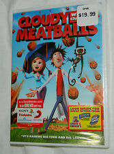 BRAND NEW Cloudy With a Chance of Meatballs (DVD, 2010) with Plastic Case!