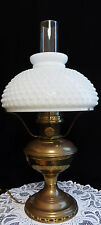 ALADDIN BRASS GAS CONVERTED ELECTRIC LAMP - MODEL #12