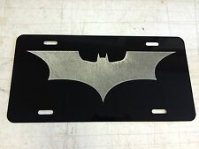 BATMAN BEGINS LOGO Car Tag Diamond Etched on Aluminum License Plate