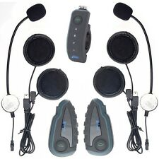 1200m Motorcycle BT Intercom Bluetooth Bike Helmet V8 Headset+1 Remote Control