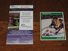 BOBBY ORR AUTOGRAPHED BAY BANK BOSTON BRUINS CARD-JSA COA