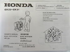 Honda Engine Operation And Maintenance Manual For GX22 And GX31 Models