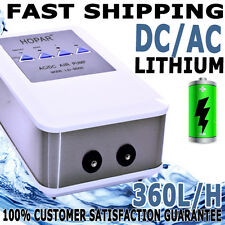 Aqua Aquarium Fish Tank AC/DC Battery Backup Silent Air Pump 2 Outlet 360L/H