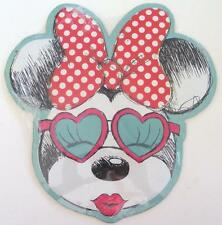 CLASSIC MINNIE MOUSE DISNEY HEARTS KISSES BIG BOW EMBOSSED METAL SIGN NEW