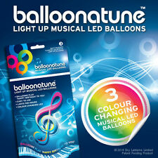 Balloominate cc-hb-001 Led Luz Musical Globos Cambio De Color Pack De 3