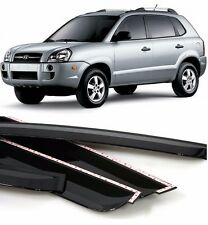 Black Plastic Sun, Rain, Smoked Door Visor 4PCS For KIA SPORTAGE 2005 2010