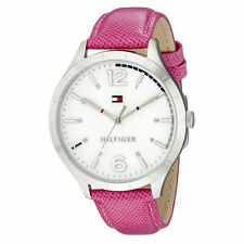 Tommy Hilfiger 1781544 Pink Leather Stainless Steel Womens Watch